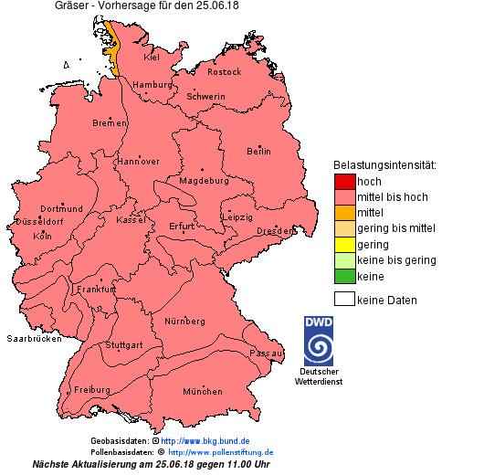 Pollenflug Deutschland